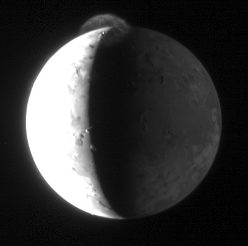 Io vulcanic plume: 131 KB; click on the image to view the original website